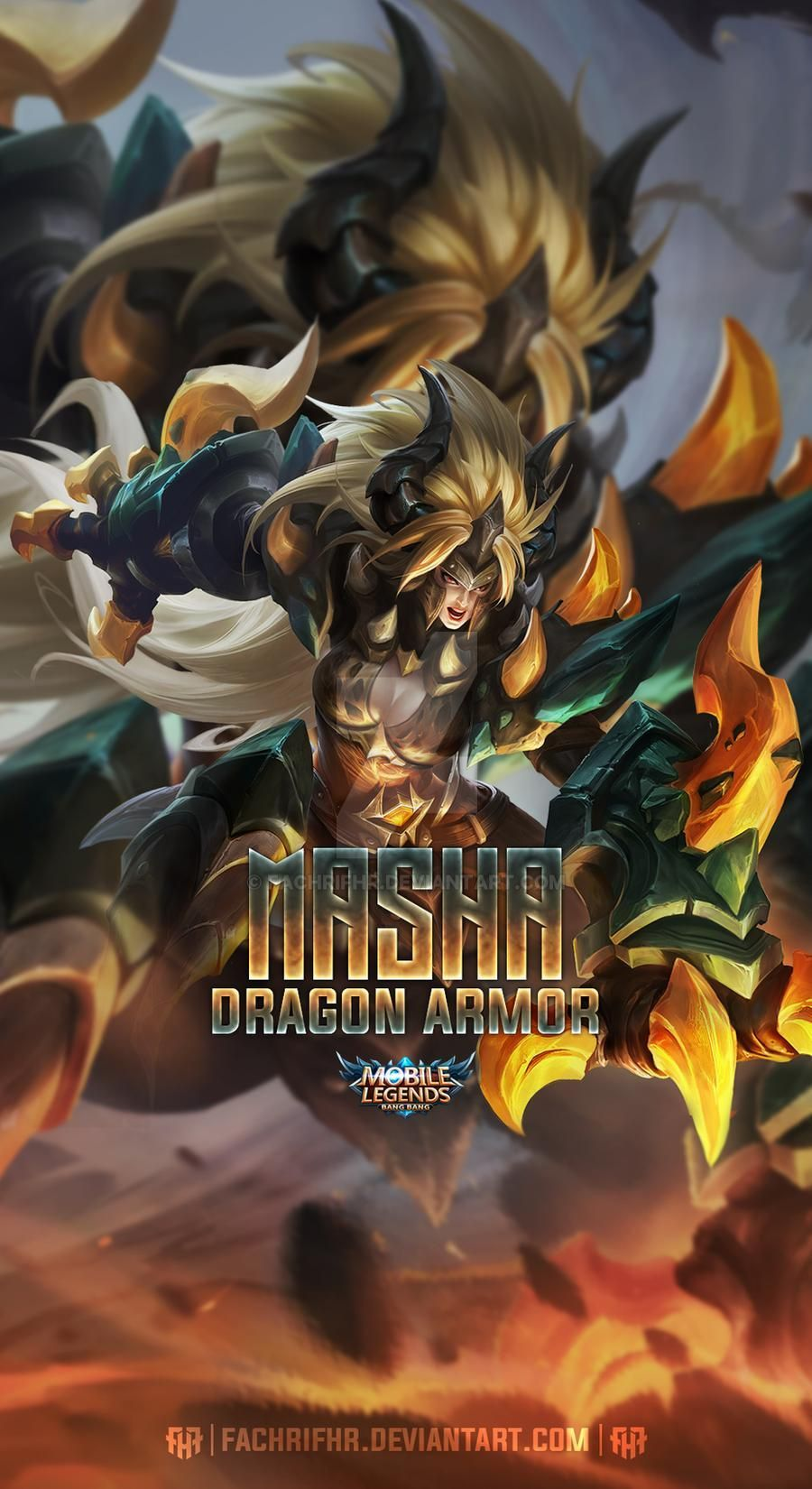 Masha Dragon Armor By Fachrifhr On Deviantart In 2020 Dragon Armor Mobile Legend Wallpaper Alucard Mobile Legends Artwork, knight, dragon, armor hd wallpaper posted in fantasy wallpapers category and wallpaper original resolution is 2542x1422 px. masha dragon armor by fachrifhr on