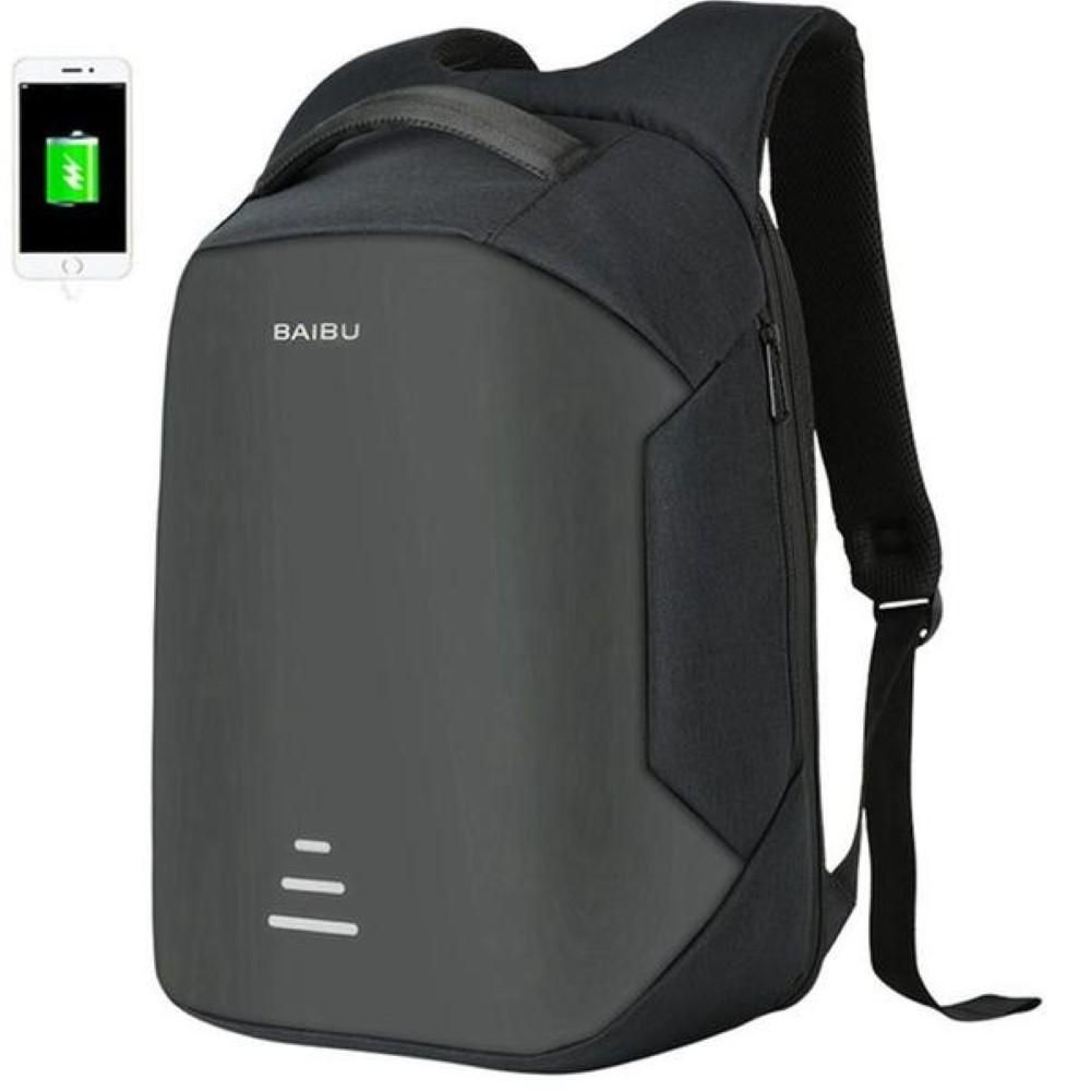c42ea9ee0199 Smart Anti Theft USB Travel Backpack Waterproof Oxford Bag with ...