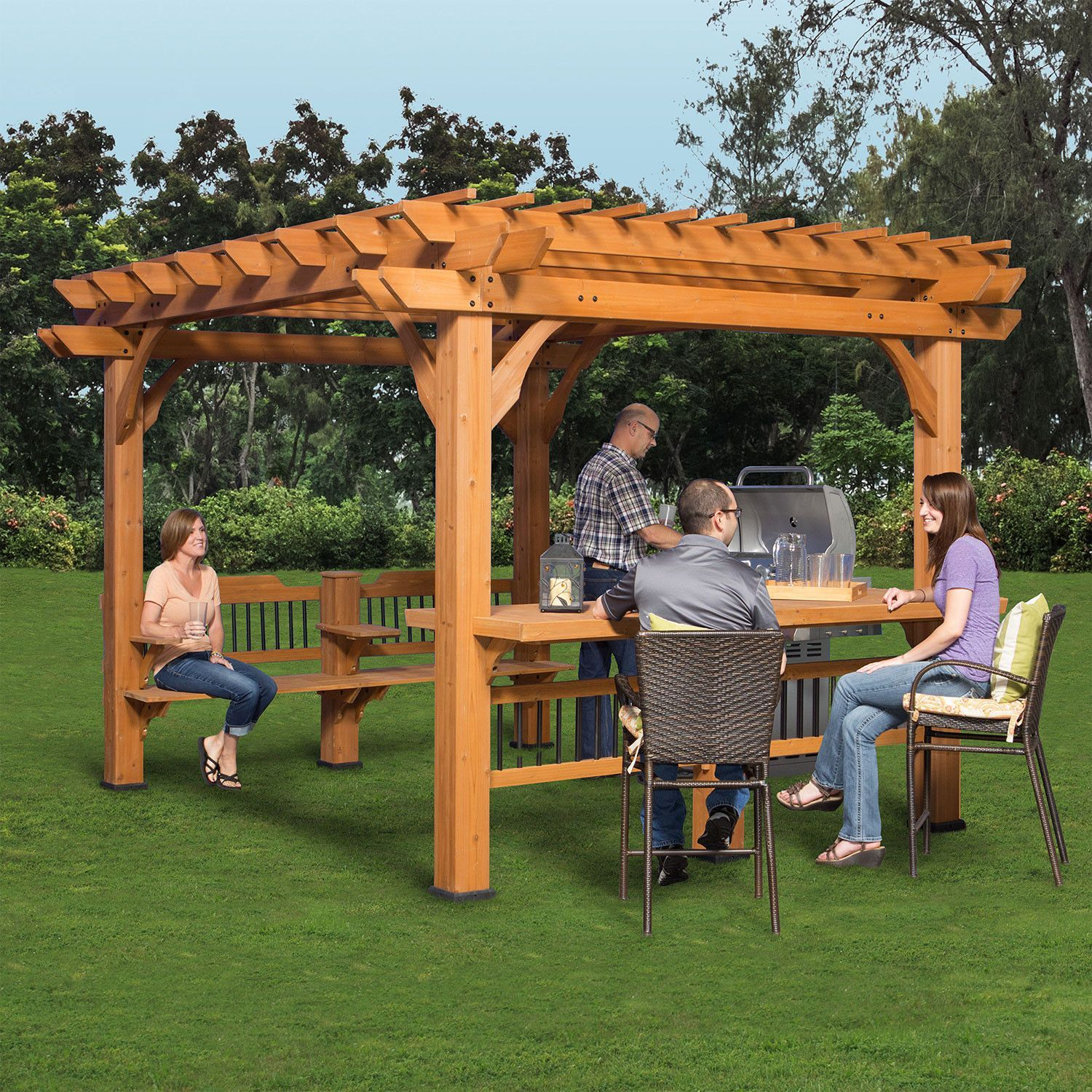 Oasis 12 X 10 Pergola Backyard Patio Backyard Backyard Pergola