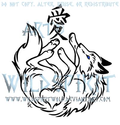 146b26fcb Wolf And Love Kanji Tattoo by WildSpiritWolf.deviantart.com on @deviantART
