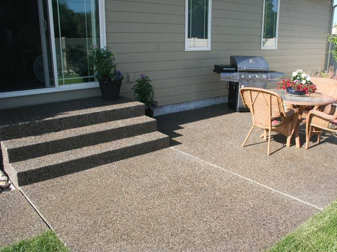 Exposed Aggregate Patio, Nice Alternative To Pavers, Concrete And Lose  Gravel Pathways/driveways
