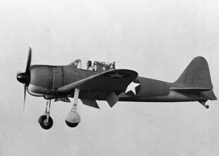 Captured A6M Zero fighter 'Akutan Zero' flying over San Diego, California, United States, Sep 1942
