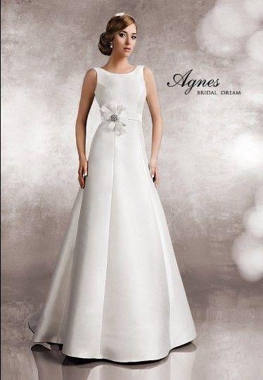Elegant U Boot Ausschnitt Satin Schärpe Hochzeitskleider EHS91306071 ...