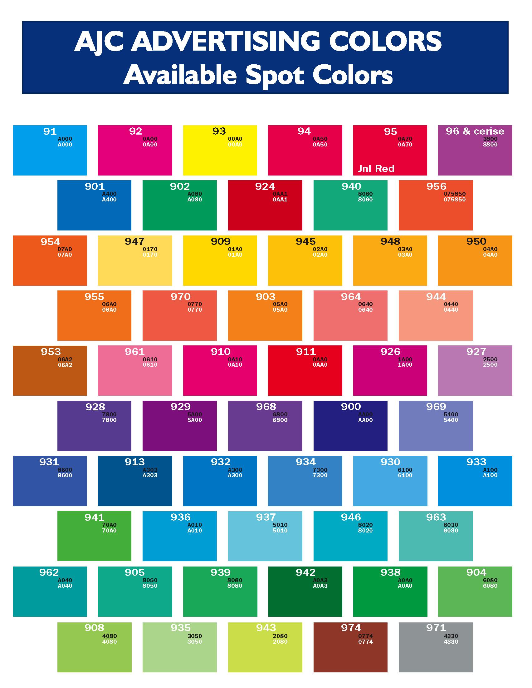 Ajc Color Chart Png 1705 2203 Pantone Color Chart Pantone Color Pantone