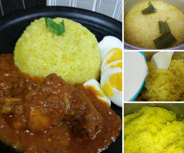 Sangat Mudah Ini Cara Masak Pulut Kuning Guna Rice Cooker Rasa Cooker Recipes Easy Meals Cooking