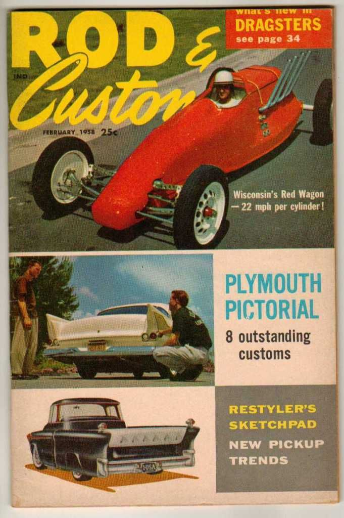 Rod & Custom February 1958 Old Vintage Classic Car Magazine Pickup ...