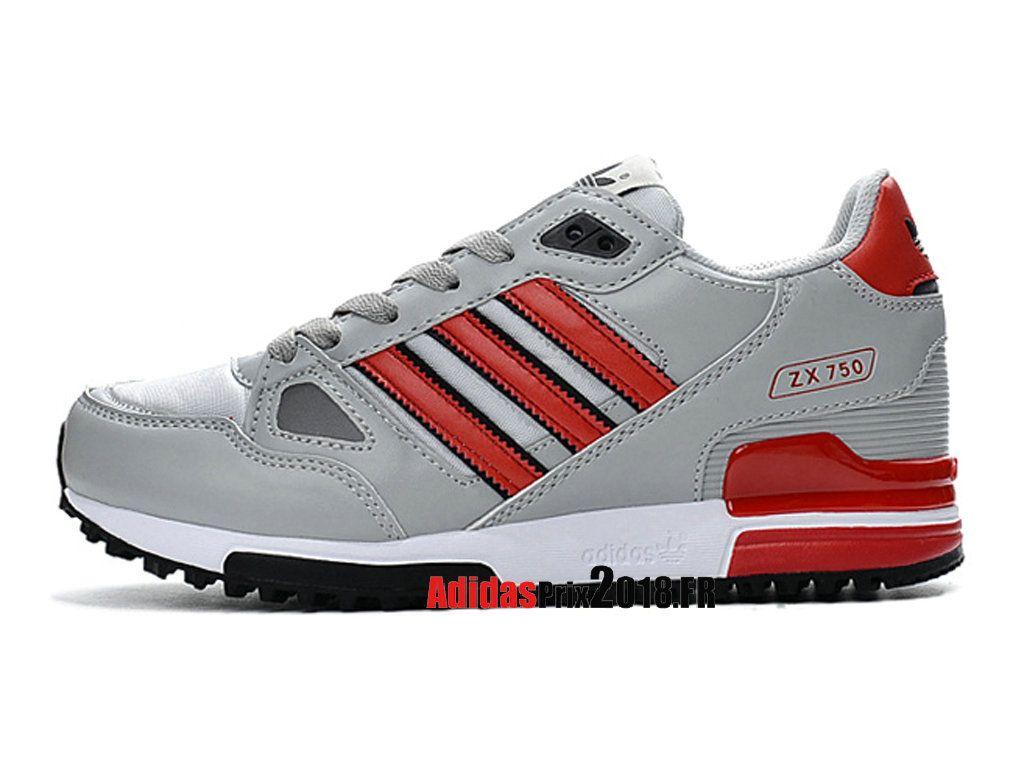 new concept 3f0ad 51a84 ... switzerland adidas zx 750 chaussures adidas sportswear prix pour femme  enfant gris rouge c4fcf 51d39