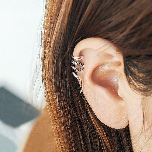 Magnus Snake Ear Cuff, 925 Sterling Silver Snake Earring, Parabatai ...