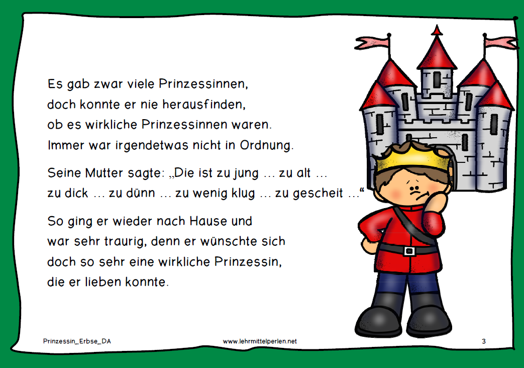 Prinzessin auf der erbse comic  Die Prinzessin auf der Erbse | German, German resources and Learn german