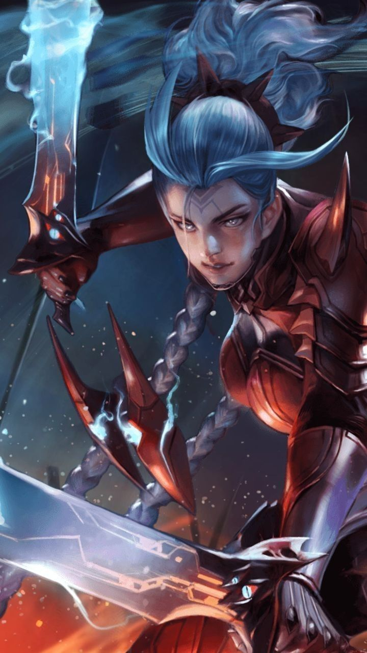 Airi Bloodraid Skin Arena Of Valor Aov Character Wallpaper Girls Characters Fantasy Characters