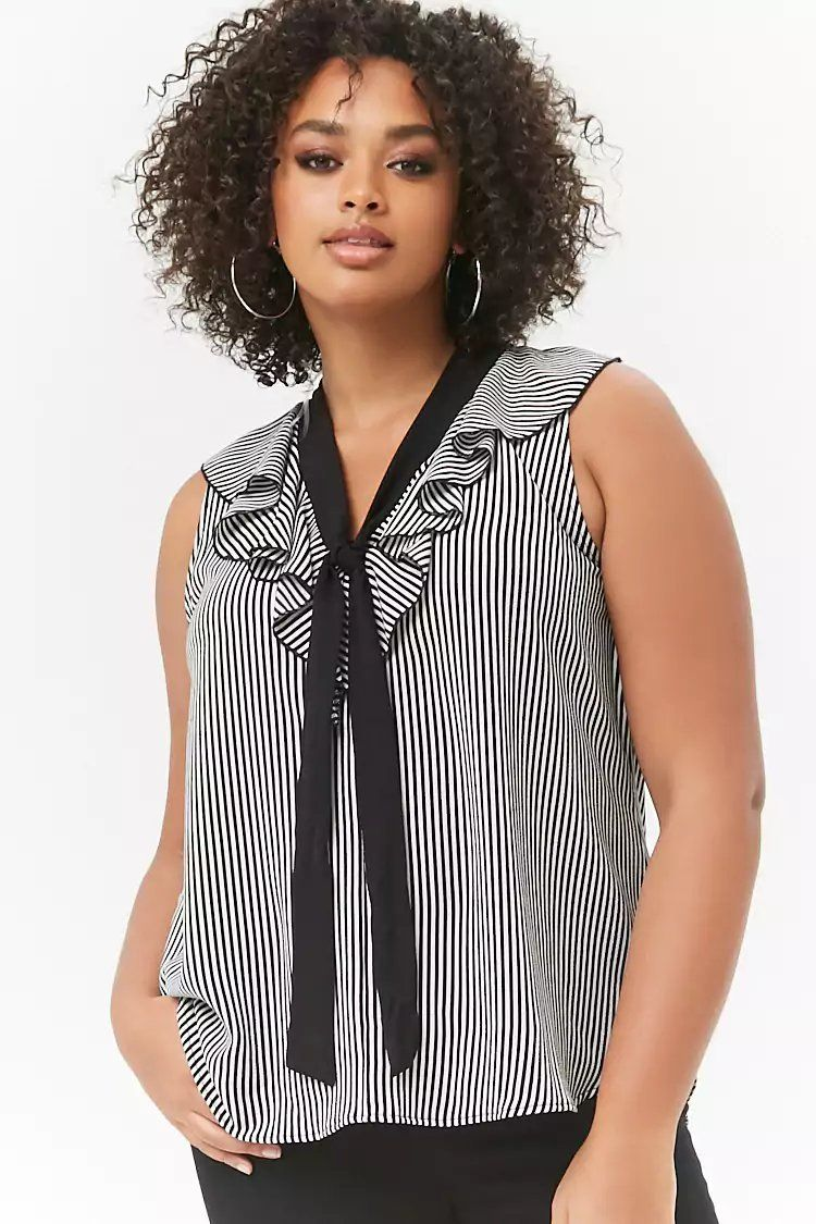 e83921088af87 Product Name Plus Size Striped Ruffle Top