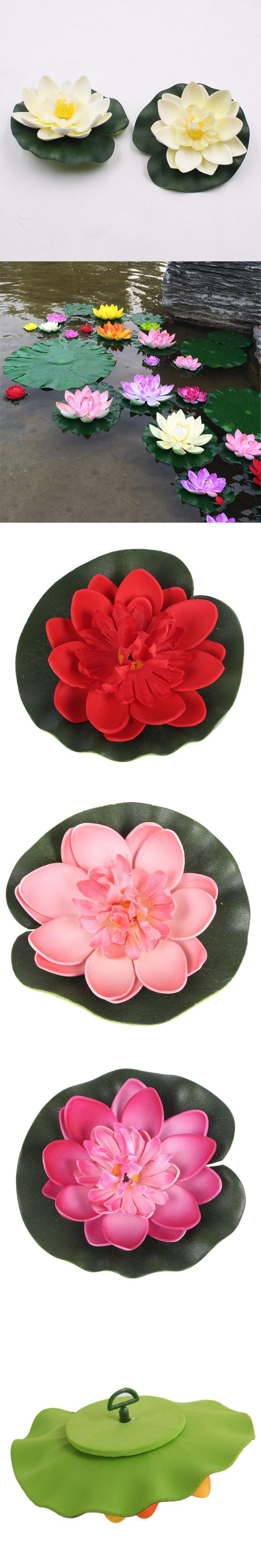 5pcs 10cm Real Touch Artificial Lotus Flower Foam Lotus Flowers