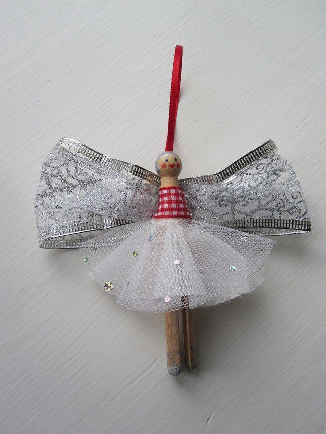 Dolly Peg Angel Fairy Christmas Decorations Christmas Ideas