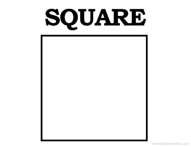 graphic regarding Square Printable known as Printable Sq. Form Effort Recommendations Printable designs