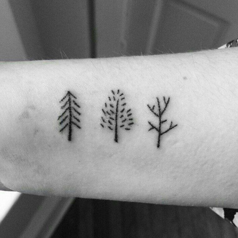 Photo of Tatouage d'arbre: pin, laurier, chêne, bouleau, olivier … | Conception et décoration de meubles