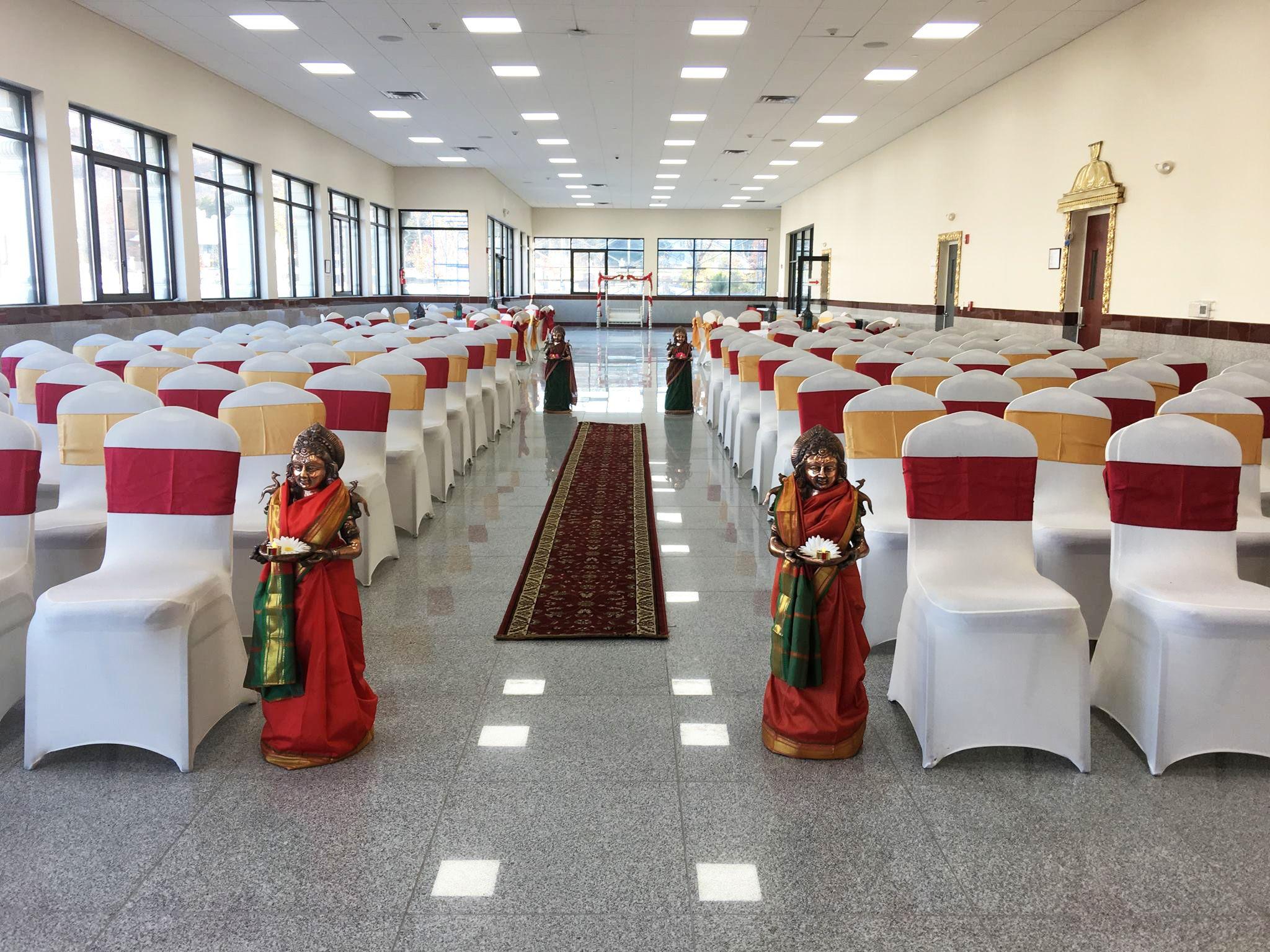 Bridgewater Temple Wedding Aisle, Chairs Decor | Wedding Decor in