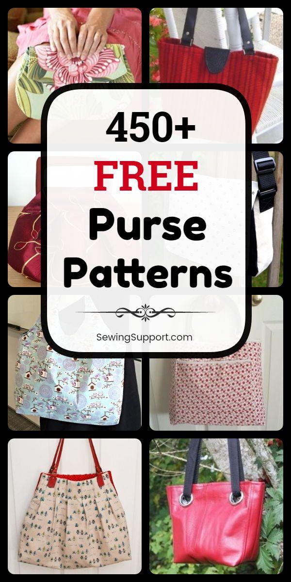 450+ Free Purse Patterns #pursesandbags
