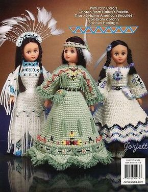 Indian Maidens Annie's Attic Crochet Pattern Booklet 6 Patterns Included for sale online | eBay