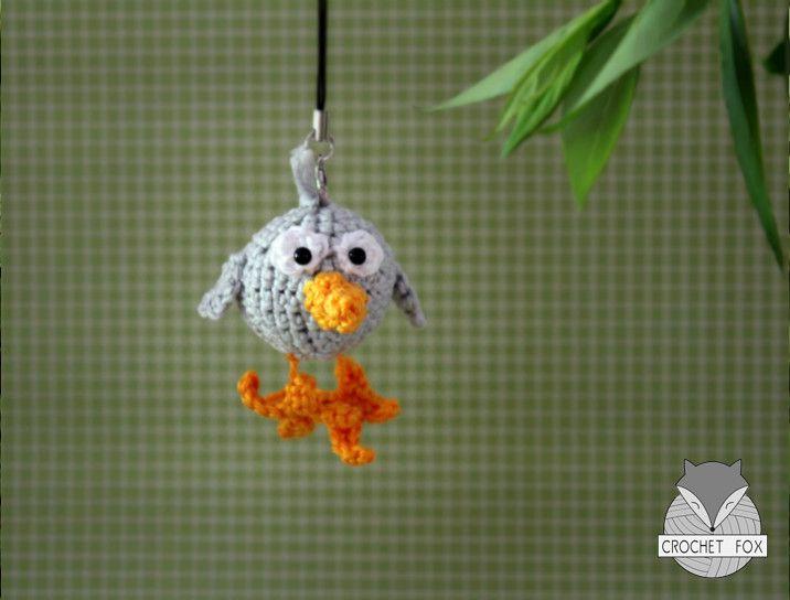 Crochet Amigurumi Keychain Free Pattern : Baby birdy free pattern amigurumi crochet keychain