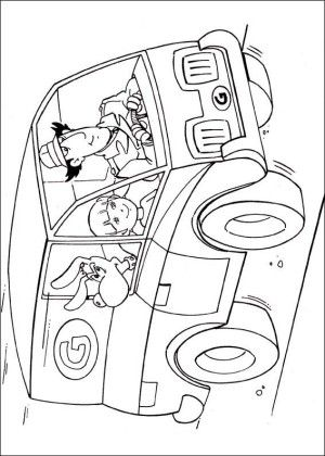 Inspector Gadget Coloring Page 13 Coloring Books Coloring Pages