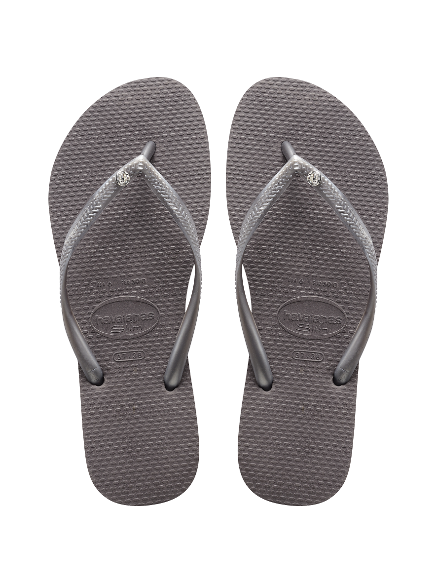 bb1628072569 Havaianas Slim Crystal Glamour Sw Sandal Steel Grey Price From  45