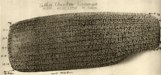 Rongorongo Tablets from Easter Island