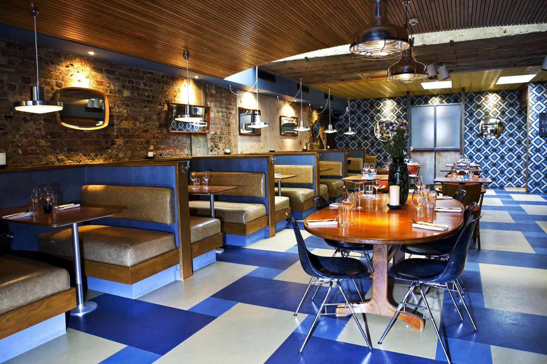 ROTORINO, KINGSLAND ROAD 1930's blue italian Cafe design