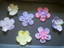 Course 2 fondant flowers #wiltoncontest from Michael's in Appleton, WI