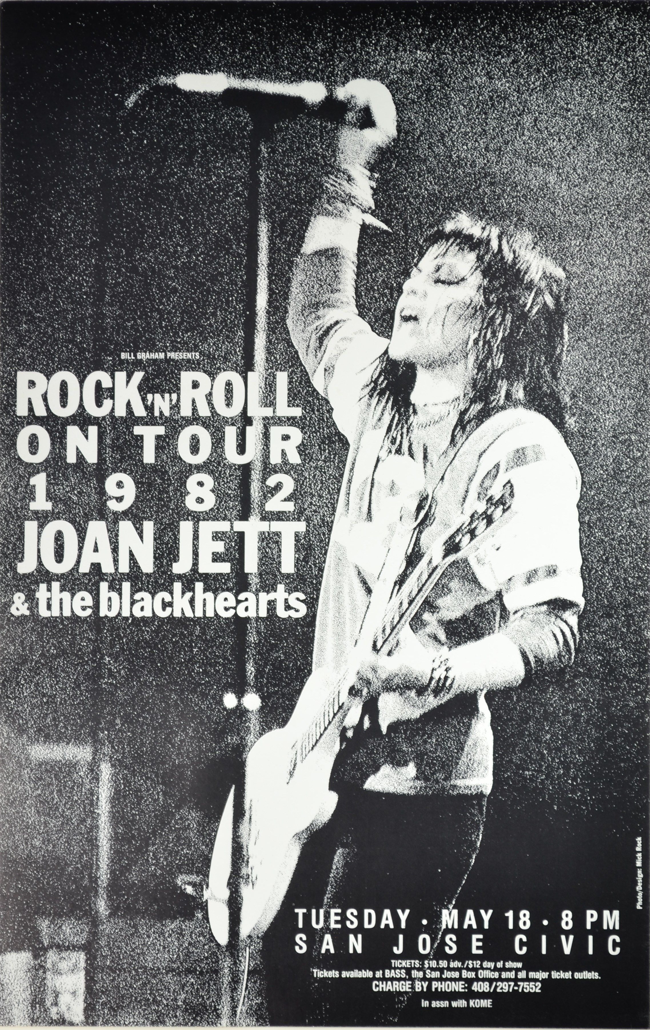 Here is a Joan Jett concert poster from Cicic Auditorium, San Jose, 1982.