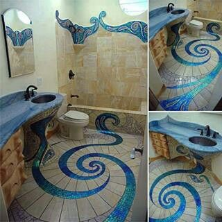 Crazy Bathroom Tile Good Thing I Married S Flooring Installer Huisstijlkleuren Badkamerideeen Architectuur