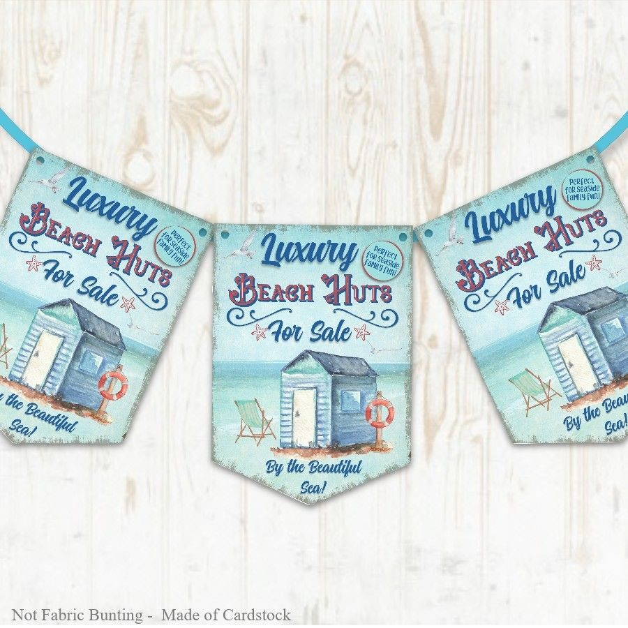 Blue Las Vegas Wedding Anniversary Bunting Garland Party Banner