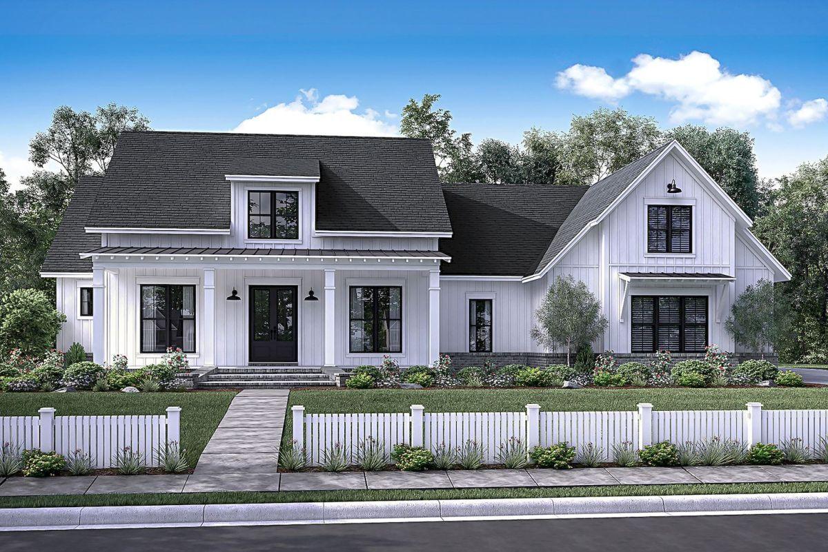 90 Incredible Modern Farmhouse Exterior Design Ideas 72