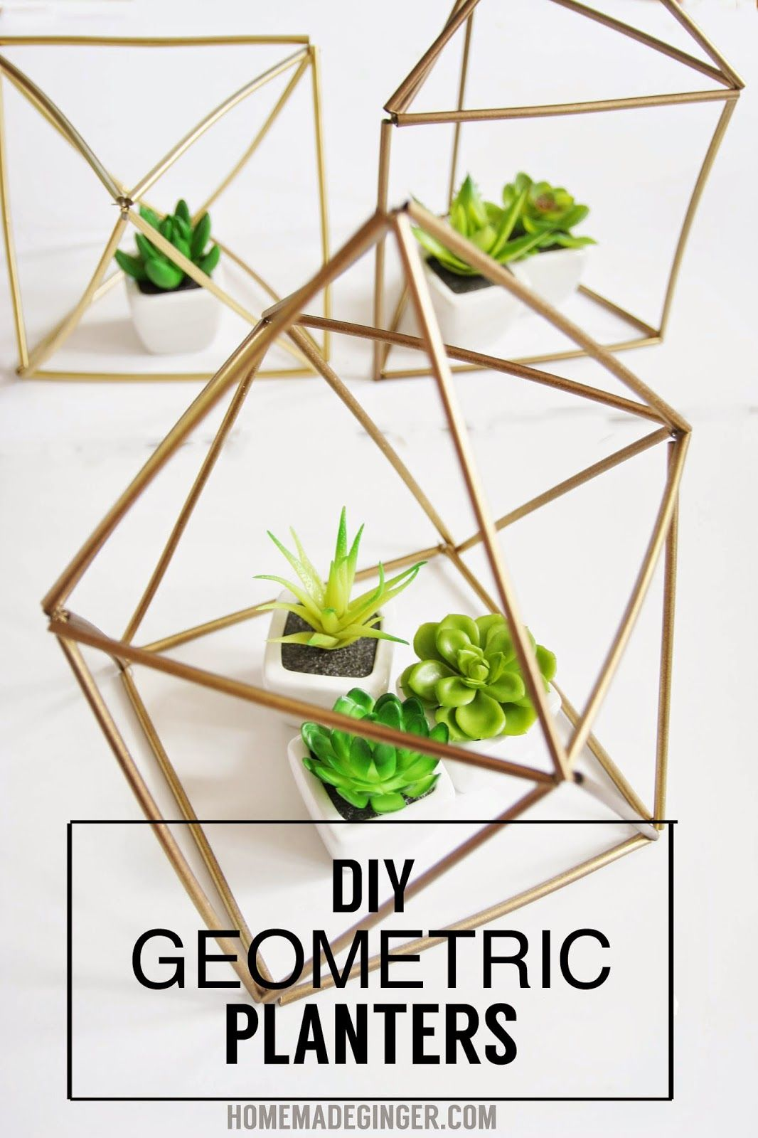 Diy Geometric Planters Diy And Crafts Terrarium Diy Diy