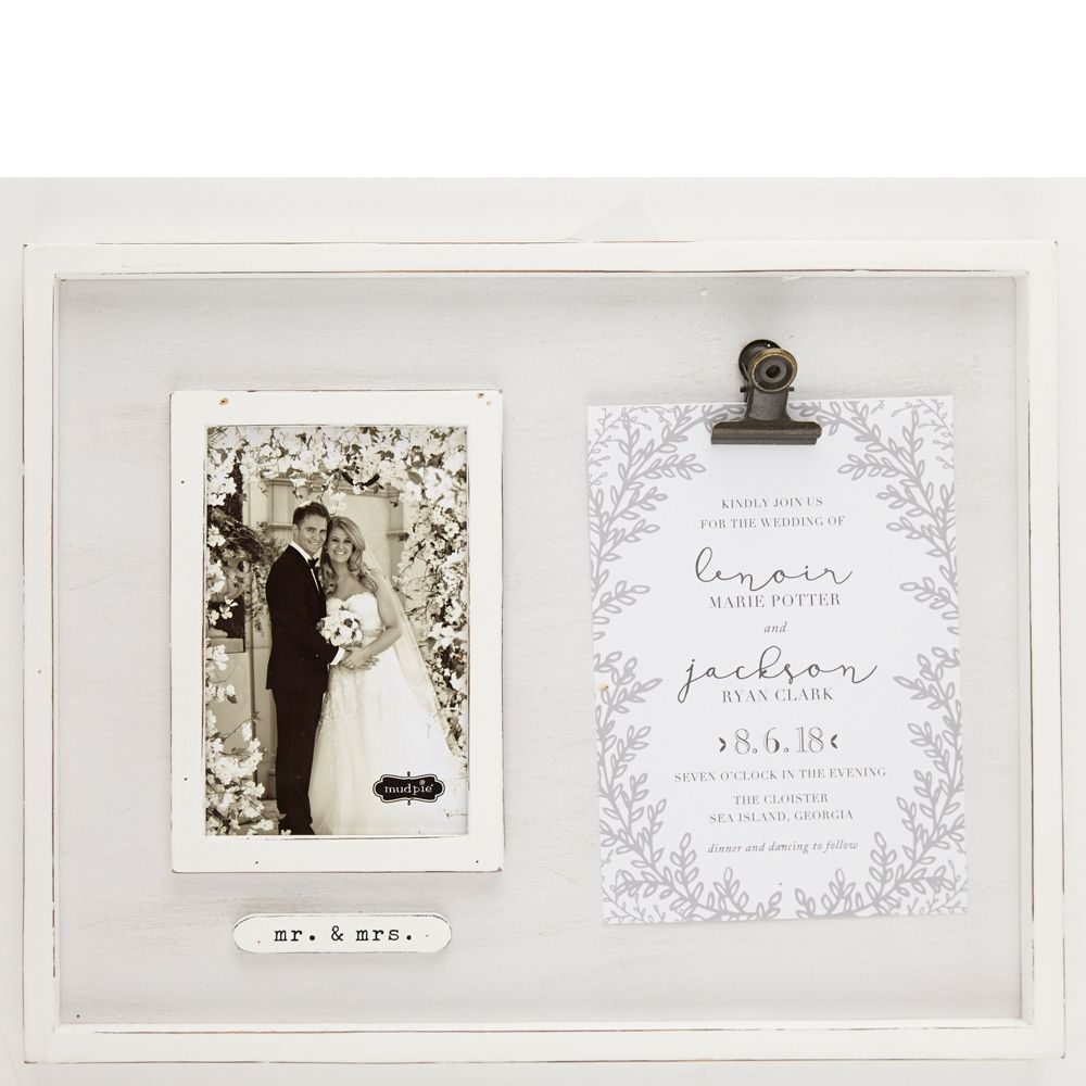 Mr And Mrs Wedding Photo And Invitation Frame With Images Invitation Frames Framed Wedding Invitations Clip Frame