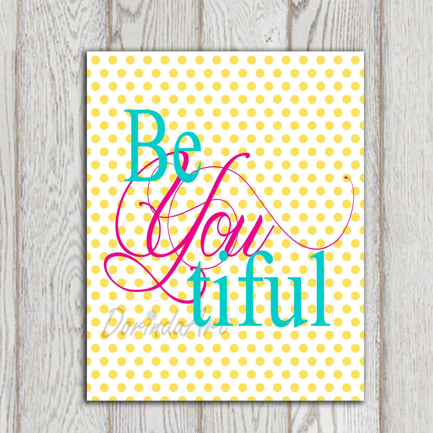 Beyoutiful printable Nursery wall art decor Little by DorindaArt, $5.00