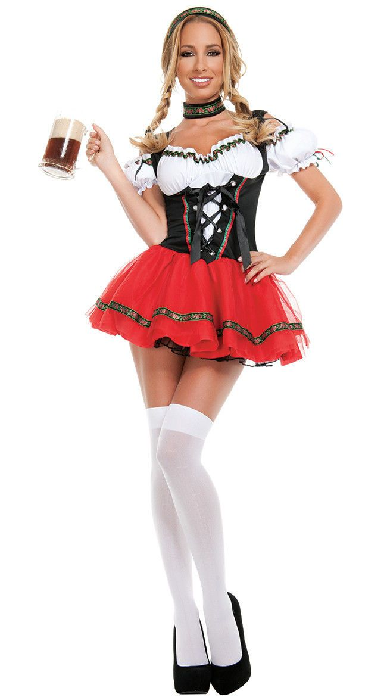 Women Oktoberfest Beer Maid Costume German Bavarian Lady Octoberfest Fancy Dress