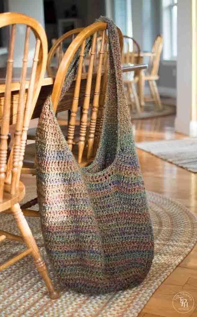 Modèle de crochet gratuit pour sac de marché extra large   – Handmade Bags