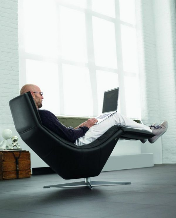 Beautiful Chair Relaxing Chair Black Leather Chair Lounge Chairs