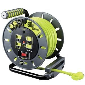 Masterplug 60 Ft 14 3 Wire Gauge With 4 Outlets Extension Cord Oma601114g4sl Us The Home Depot Extension Cord Reels Extension Cord Cord Storage