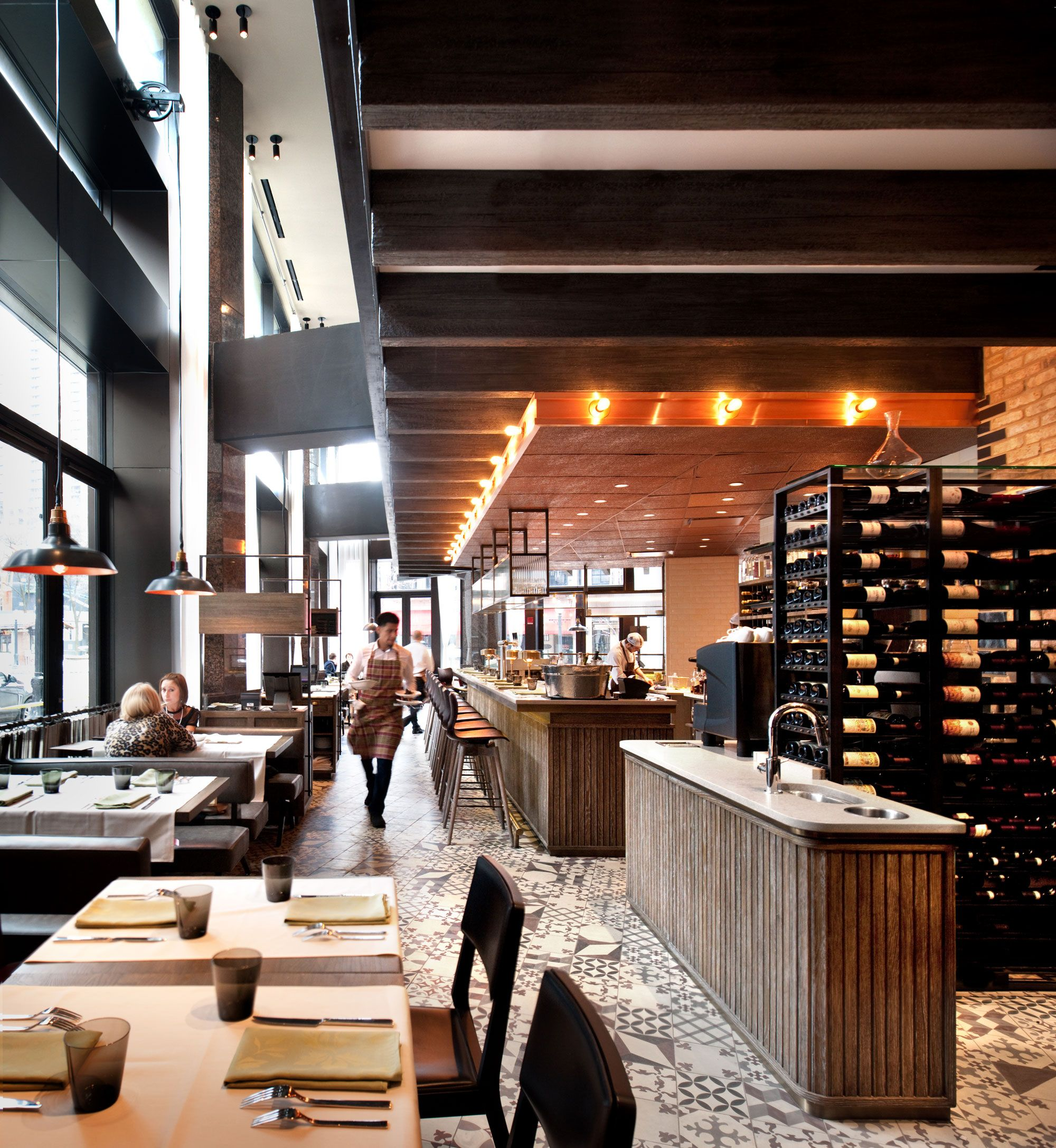 Nico osteria at thompson chicago interior architecture and