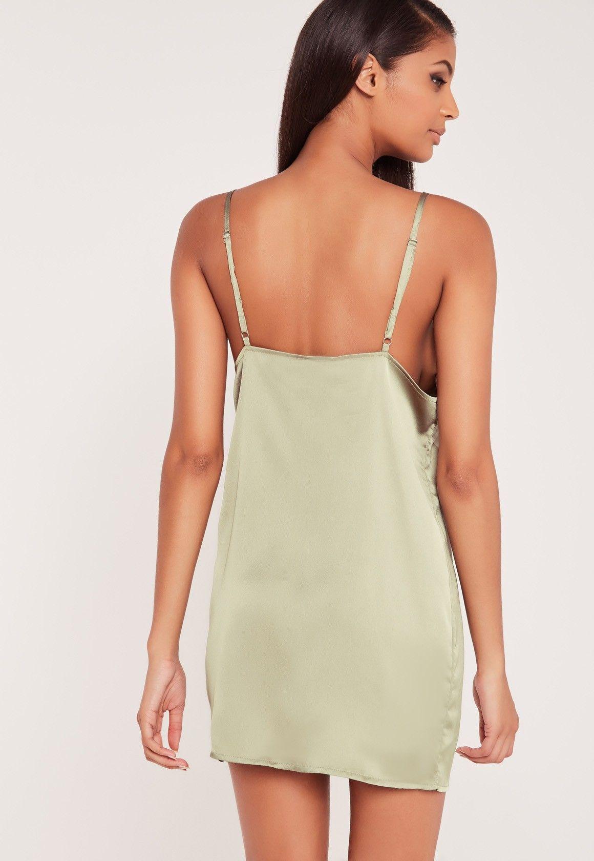 Carli Bybel Silky Cami Dress Green - Missguided | carli bybel x ...