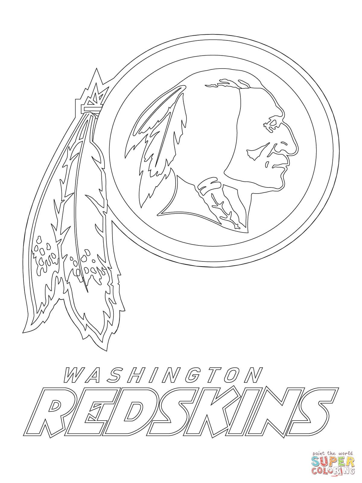 Washington Redskins Logo Super Coloring Redskins Logo