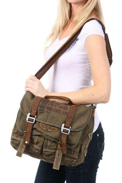 Canvas Over The Shoulder Messenger Bag