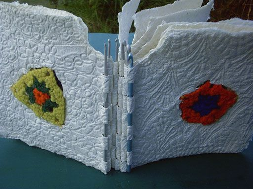 Hands on Paper - 2007 artist books  by Gail Stiffe  Love the materials!!