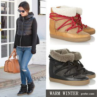 Free shipping isabel marant Nowles snow boots women genuien ...