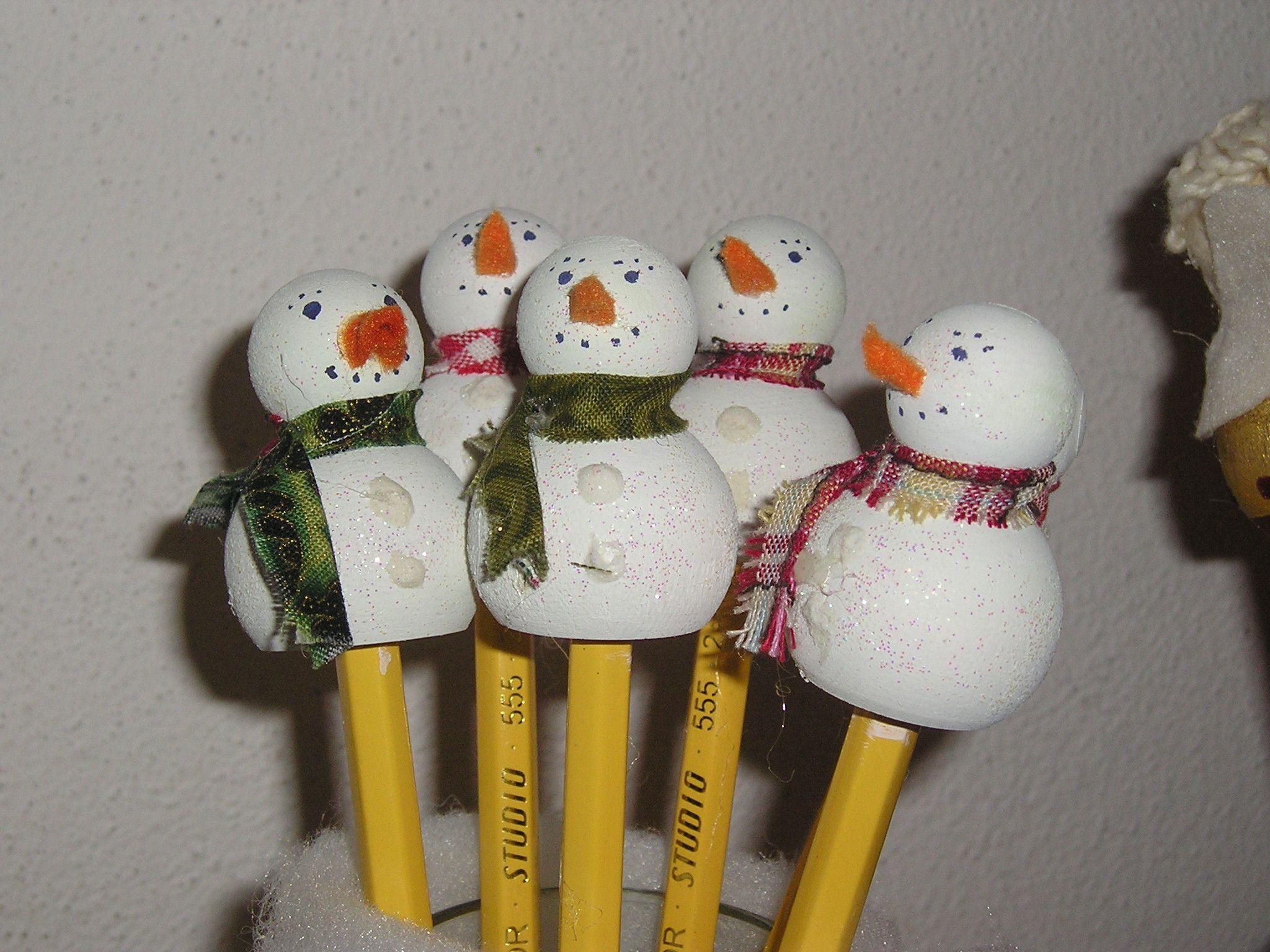 matite con pupazzo di neve
