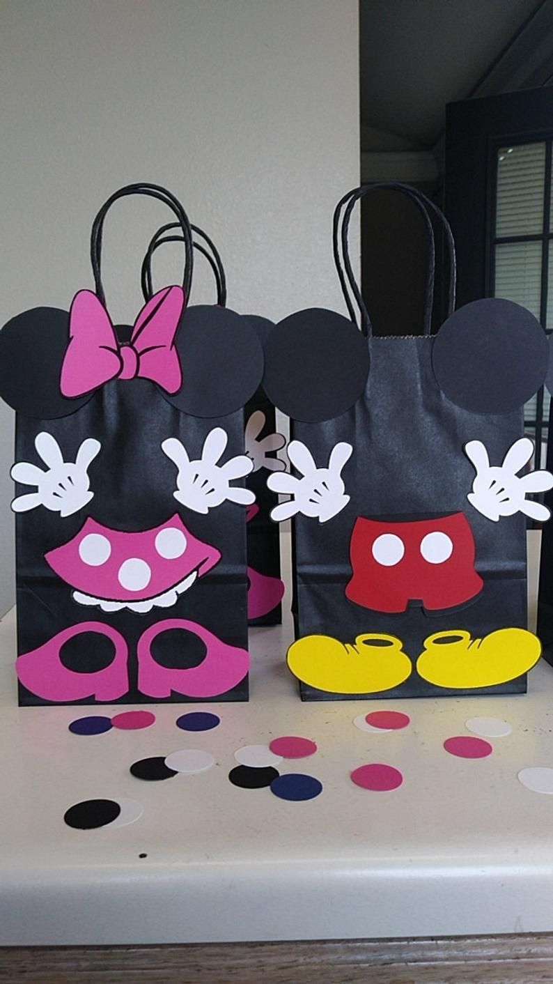 Favors Bags  Goodies Goody Loot Candy Treats Supplies Decorations Fiesta Gifts MICKEY and MINNIE MOUSE Birthday Party Set of 10