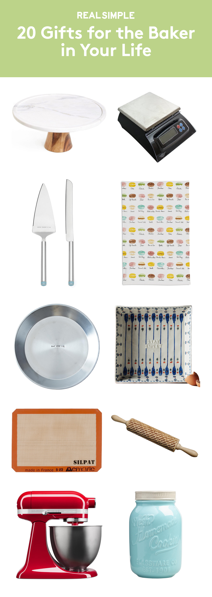 20 Gifts for the Baker in Your Life   For people who truly love to bake, a new tool for their kitchen arsenal is a great gift idea. No matter what you settle on, you'll want to check out these ideas—there's something for everyone, from the novice baker to the lifelong baking enthusiast. One last piece of advice: we suggest you ask to sample whatever delicious treats are cooked up using your gift. How's that for a (tasty) win-win?