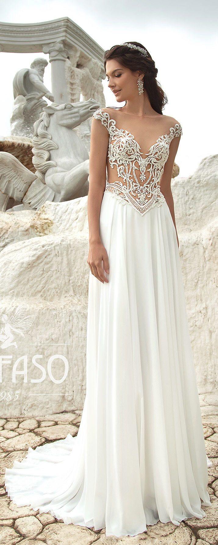 Beach wedding dress backless bridal gown boho lace dress nea