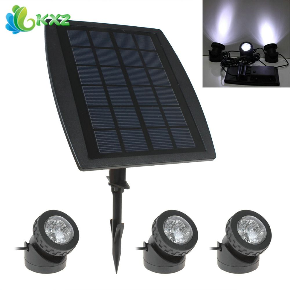 3 X White Led Solar Power Light Outdoor Waterproof Garden Pool Pond Path Road Decoration Security Lamp 1 X Solar Panel Garden Lamps Outdoor Lamp Solar Lamp